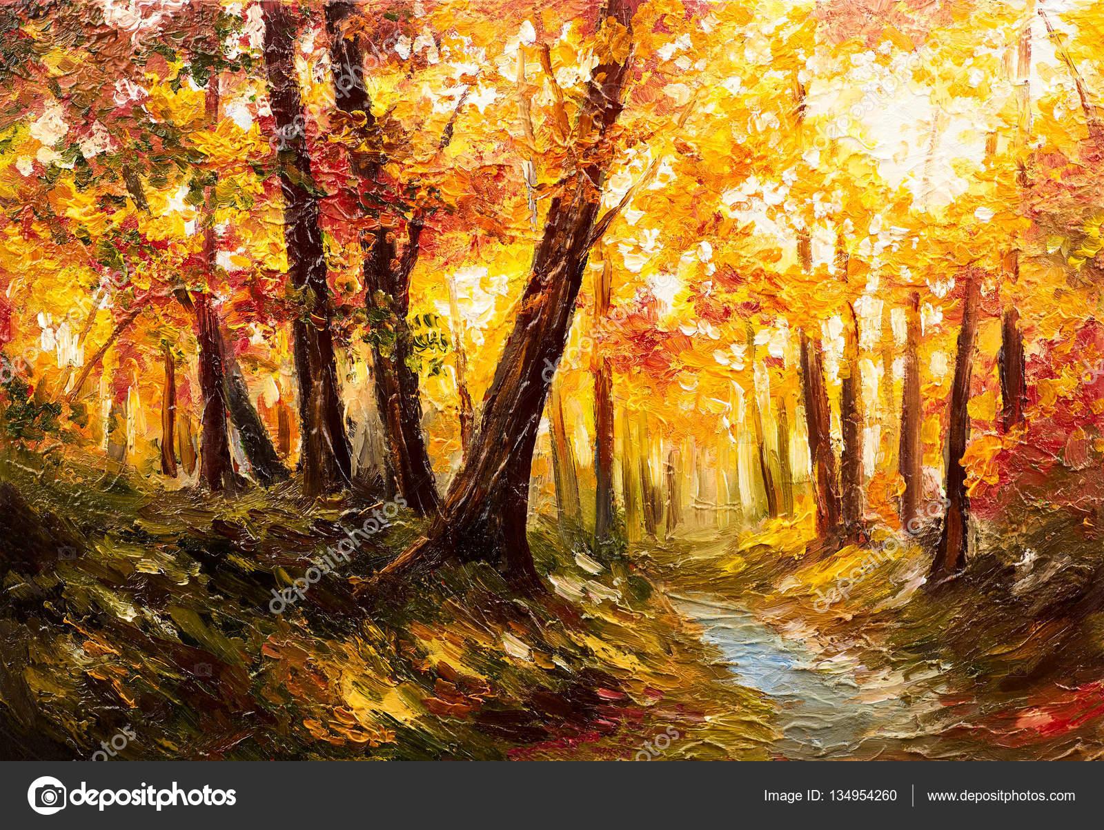 Hojas De Otoño Bosque Cerca