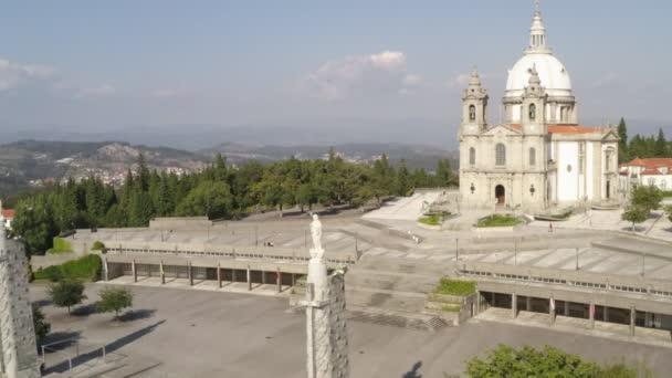 Santuario Sameiro Sanctuary drone aerial view in Braga, Portugal