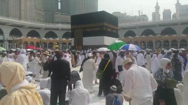 Mekka, saudi-arabien, September 2016 - muslimische Pilger aus aller Welt versammelten sich, um in der Haram-Moschee in Mekka eine Umrah oder Hadsch durchzuführen..