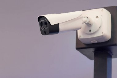 Security CCTV camera or surveillance system in office building,
