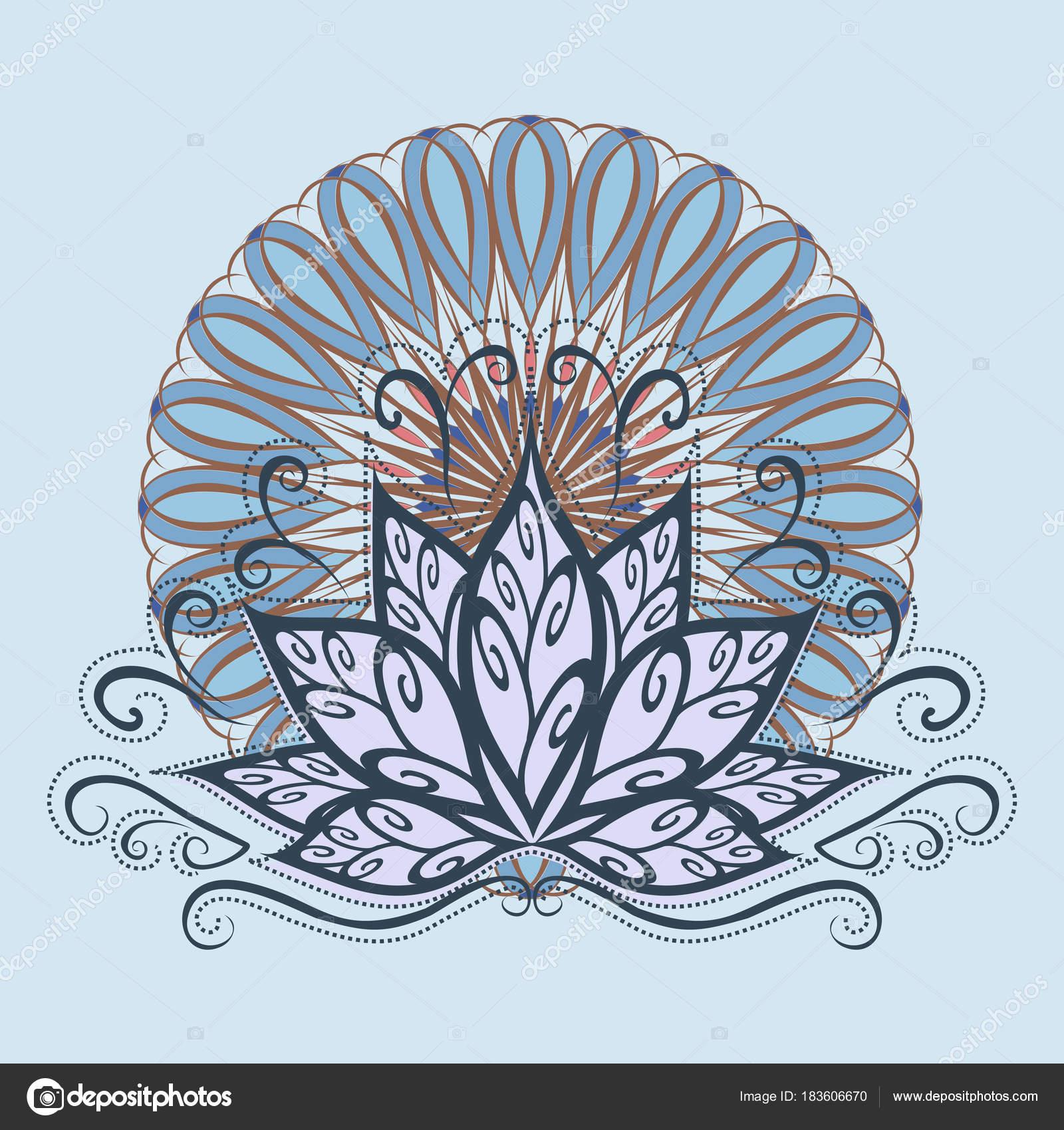 Lotus Mandala Image Vectorielle Une Fleur Lotus Stylisée Dans Style ...