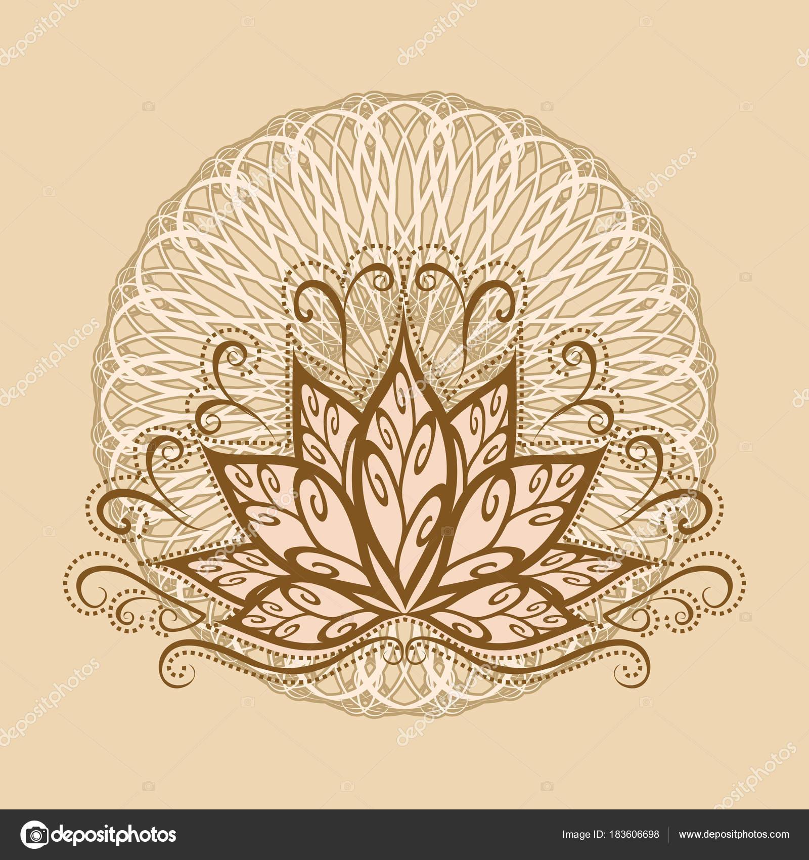 Vector Flor De Loto Mandala Lotus Mandala Vector Imagen Una Flor