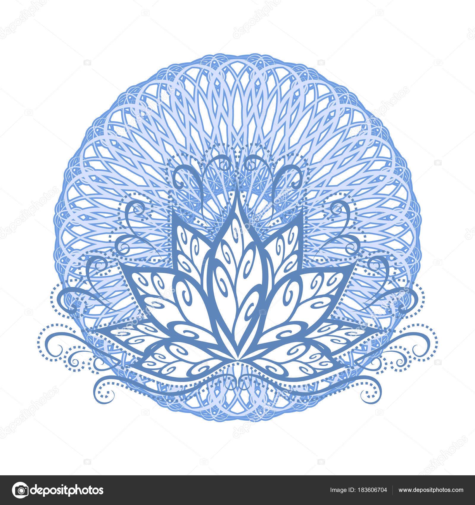 Lotus Mandala Vector Afbeelding Van Een Gestileerde Lotusbloem