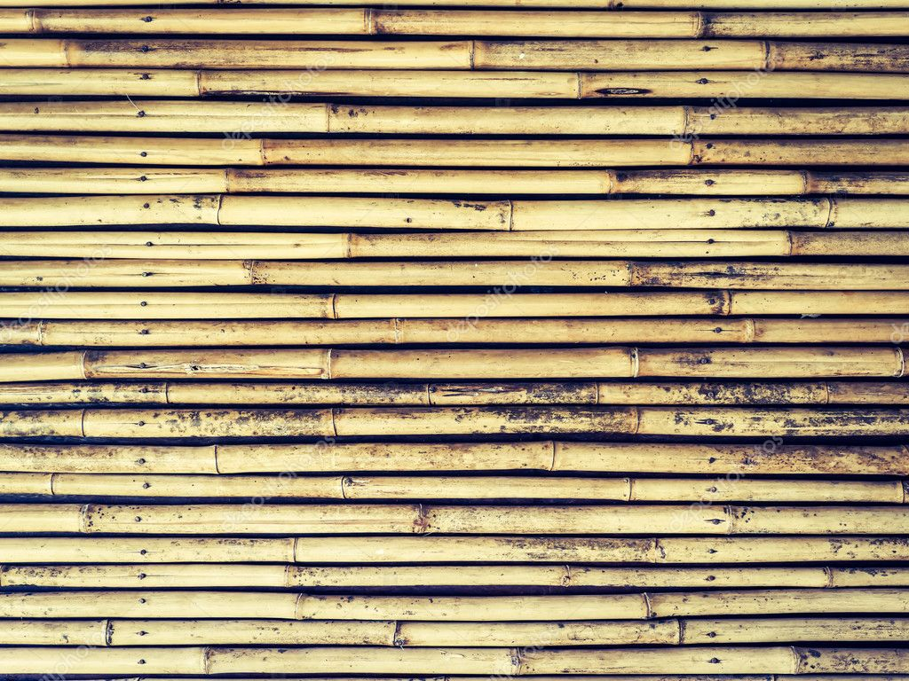 The old bamboo walls background.