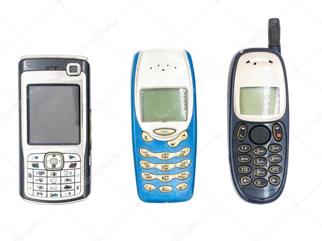 celular antigo no fundo branco stock photo ronnarong 132362788. Black Bedroom Furniture Sets. Home Design Ideas