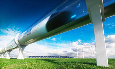 Modern technologies in transport and energy. 3d rendering.