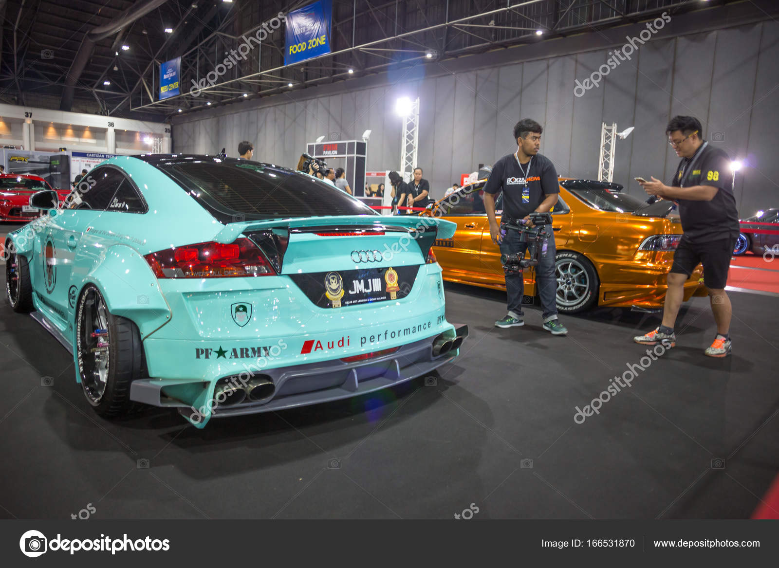 Modified car show show at Bangkok International Auto Salon 2017 ...