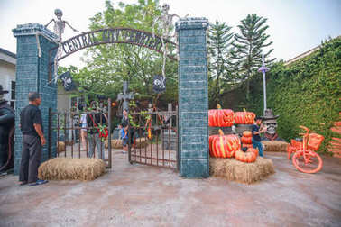 Halloween concept at  chocolate ville park and restaurant