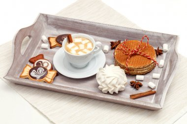 cocoa with marshmallows and sweet treats