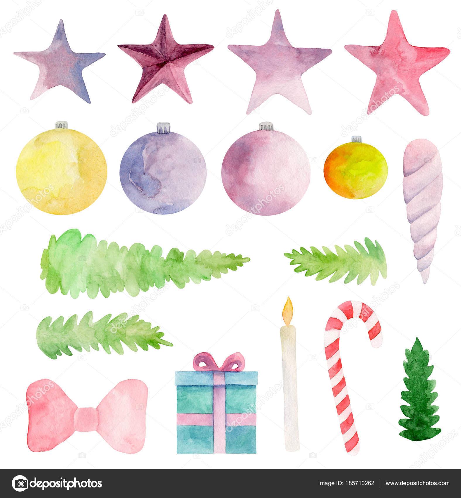 Aquarell Weihnachten Vektor Clipart Grafiken Neujahr Cliparts ...