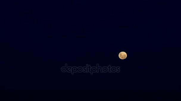 měsíc v noční obloze