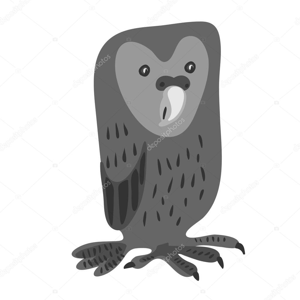 Vector design with a a cute and friendly owl
