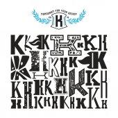 Fényképek Stock vector sor monogramja és az első betű K