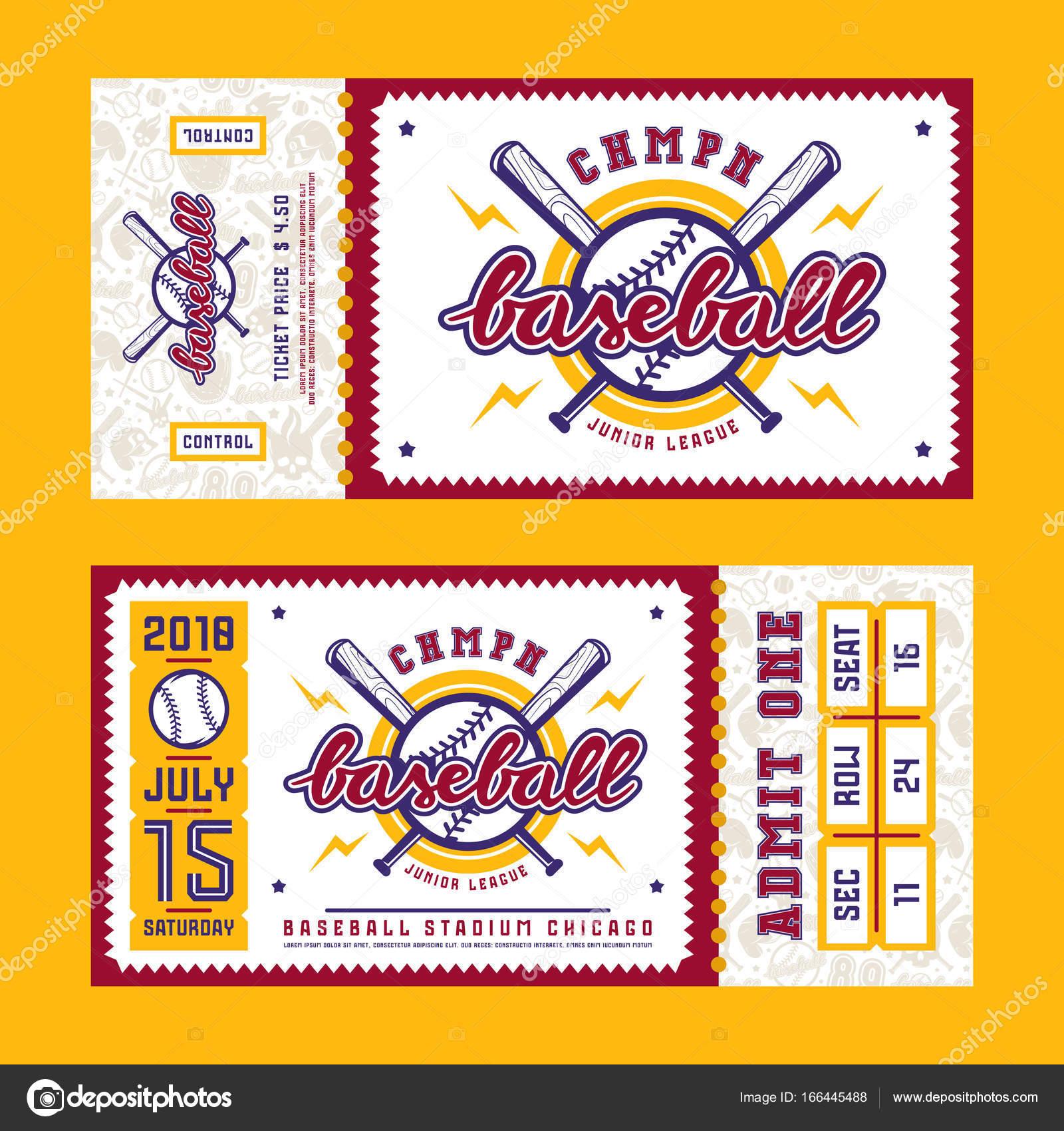Vorlage für Baseball-ticket — Stockvektor © Neuevector #166445488