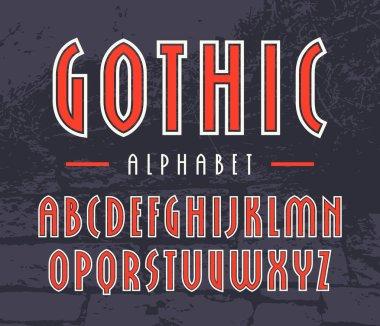 Narrow sanserif font with contour