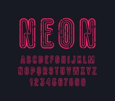 Decorative contour sans serif font with rounded corners
