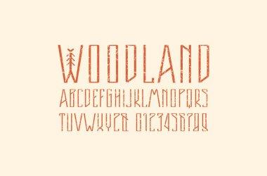 Decorative narrow sans serif font