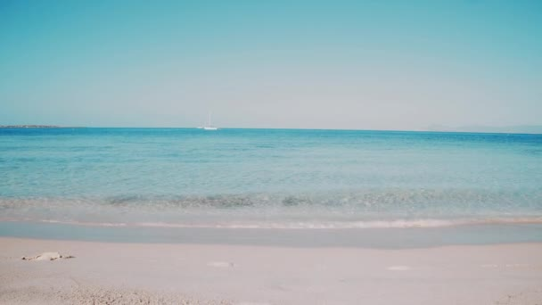 Balearic Island Formentera Transparent Blue Sea Waves