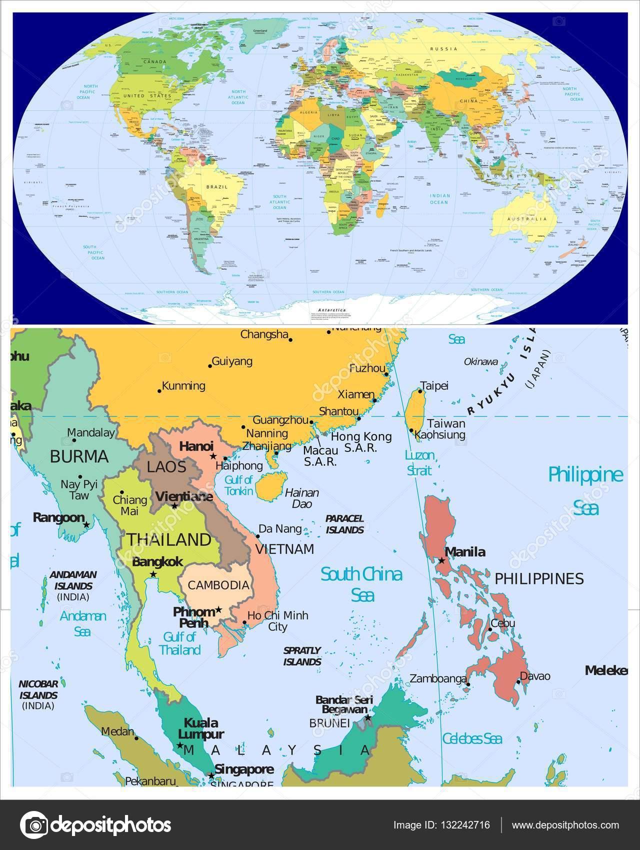 Burma laos thailand cambodia vietnam philippines and world stock burma laos thailand cambodia vietnam philippines and world stock photo gumiabroncs Choice Image