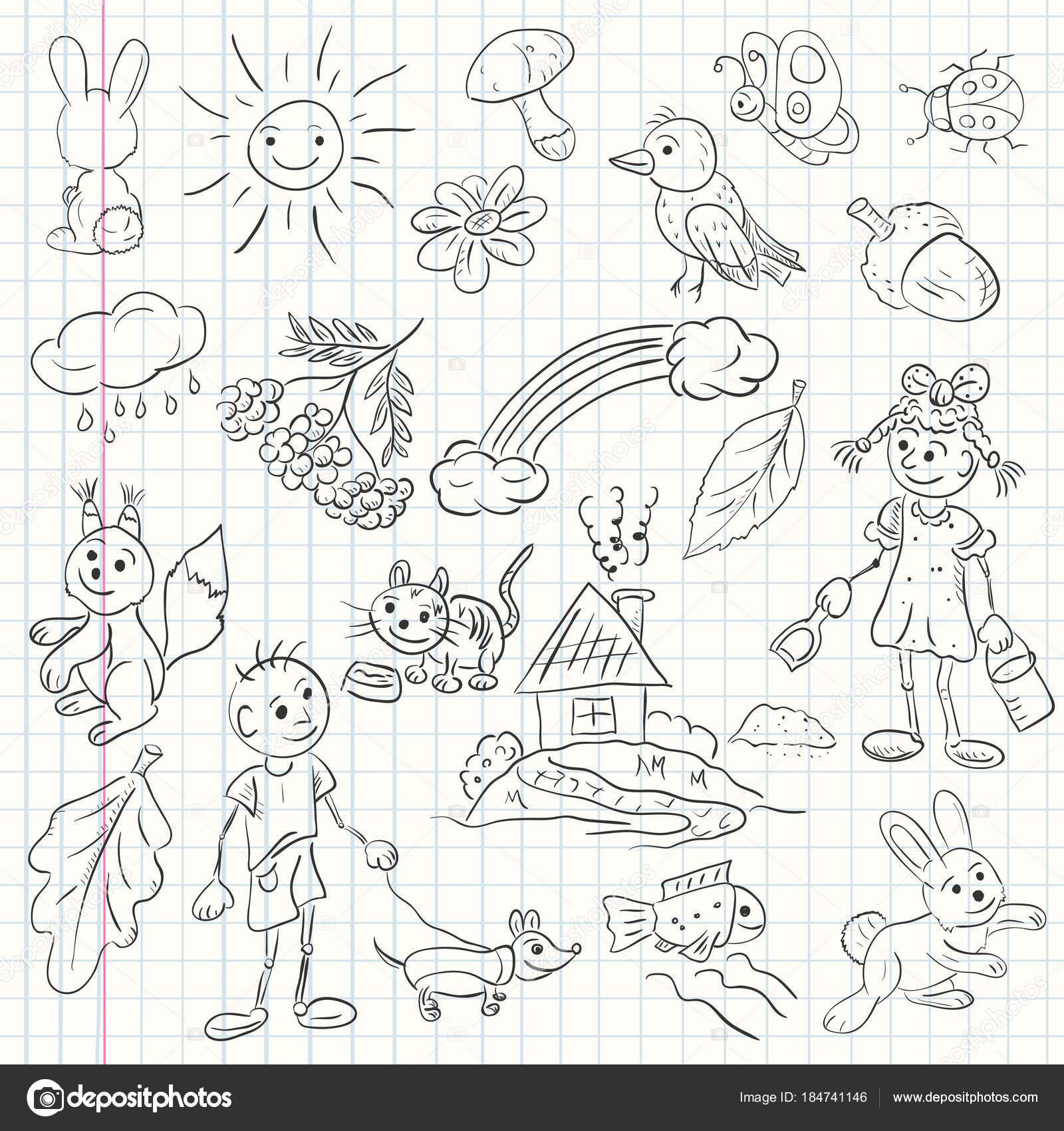 Kinder-Illustration im Stil sketch — Stockvektor © svarog19801 ...