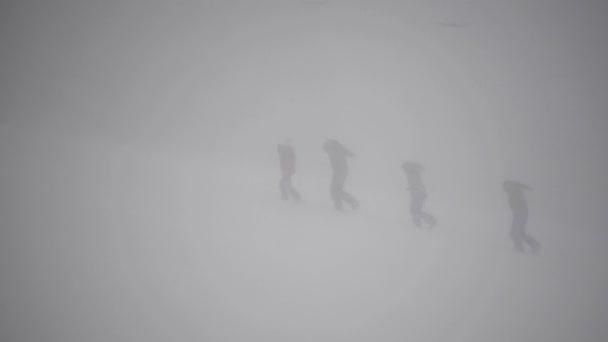 Quattro gli snowboarder a piedi