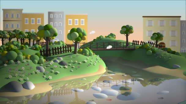 Tohle je kreslené pozadí City Parku