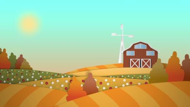 To je legrační farma kreslený pozadí