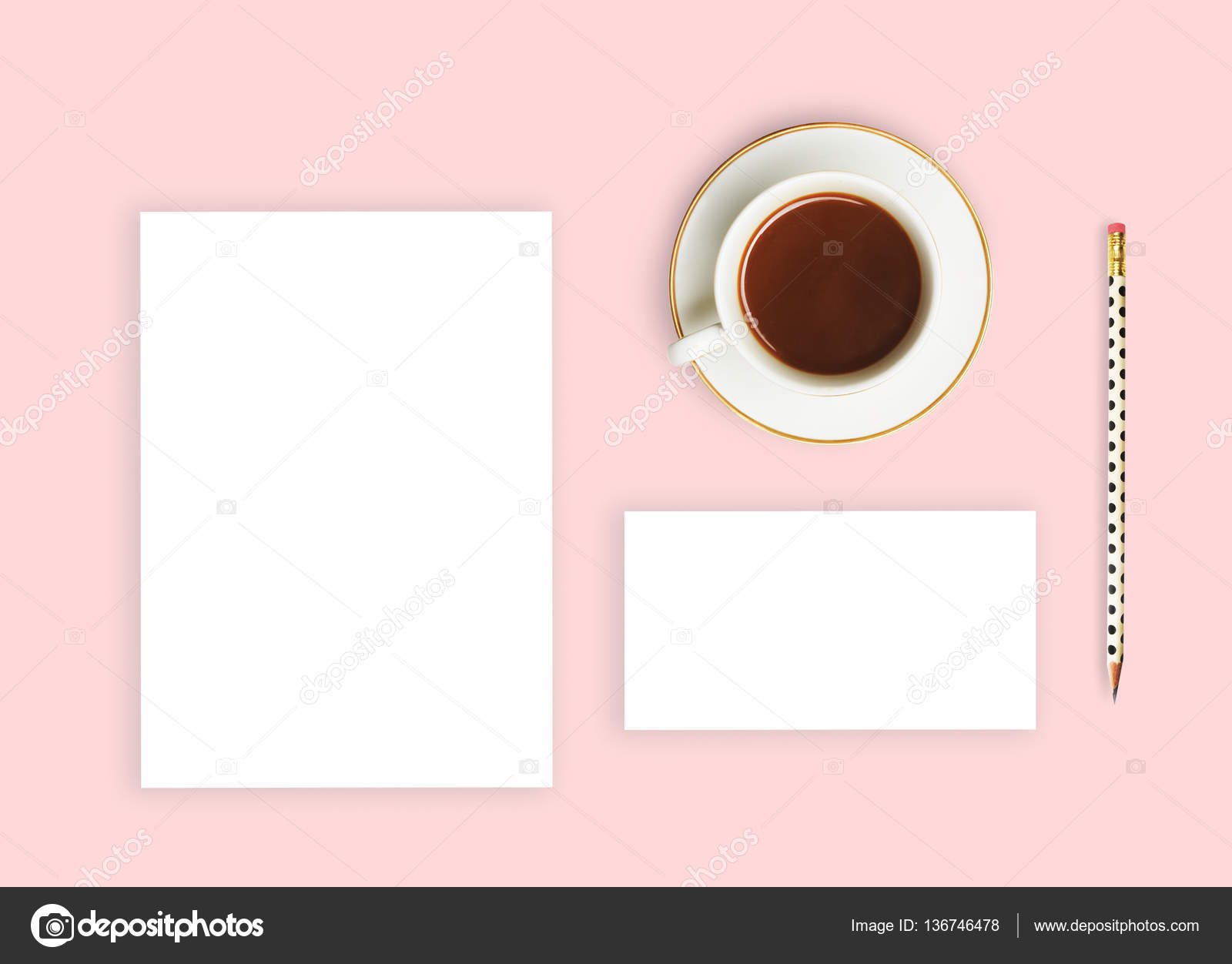 Branding Mockups Set Template Flat Lay Glamour Style Wedding Invitation Photo By Shatenka07