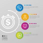 izolované obchodní infographic