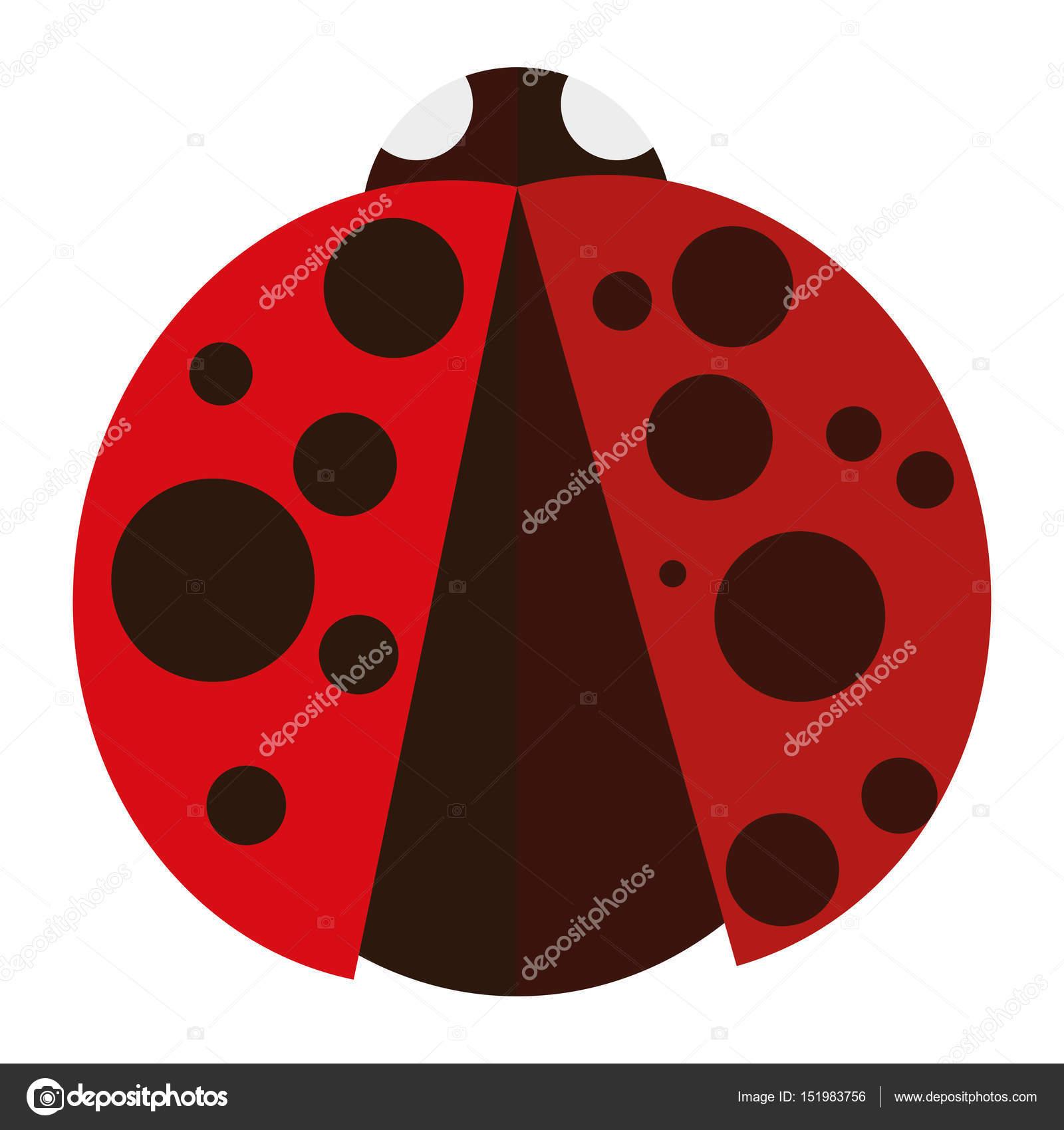 Coccinella Colorata Isolato Vettoriali Stock Illustratiostock