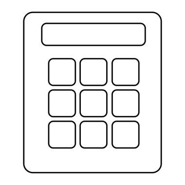 Cartoon Calculator Isolated On White Background