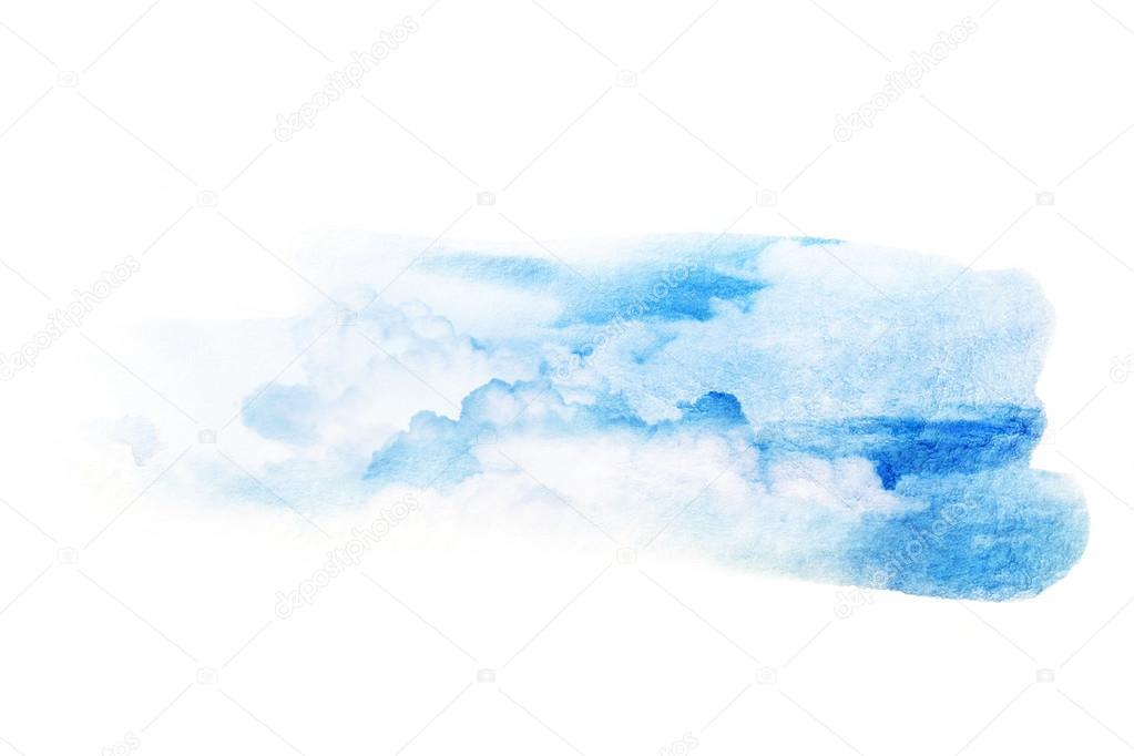 雲と空の水彩イラスト ストック写真 Noppanun 125048492