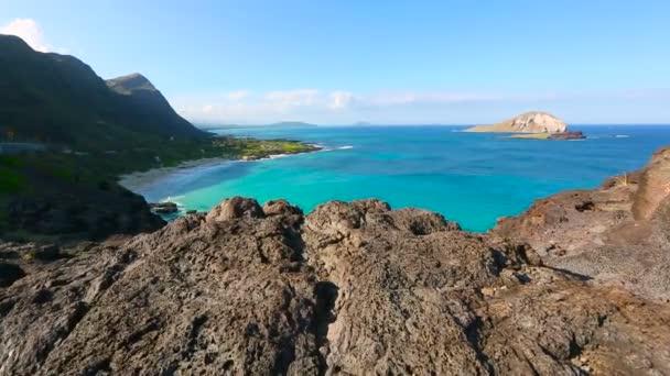 Makapuu lookout and Rabbit island on windward Oahu Hawaii