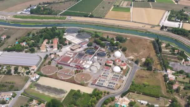 Kläranlage in Montpellier Frankreich Abwasser aus der Luft geklärt Frankreich