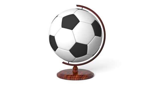 fotbalový míč koule rotující smyčka