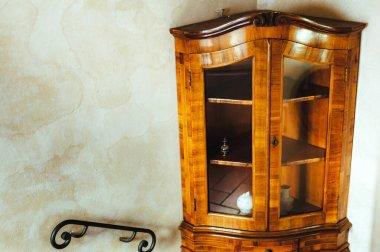 Detail of an old italian wooden wardrobe - Italian culture