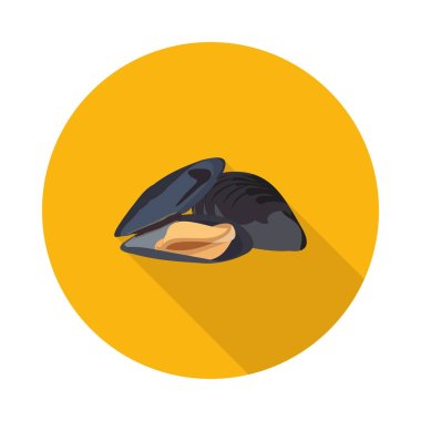 flat icon of marine mussels