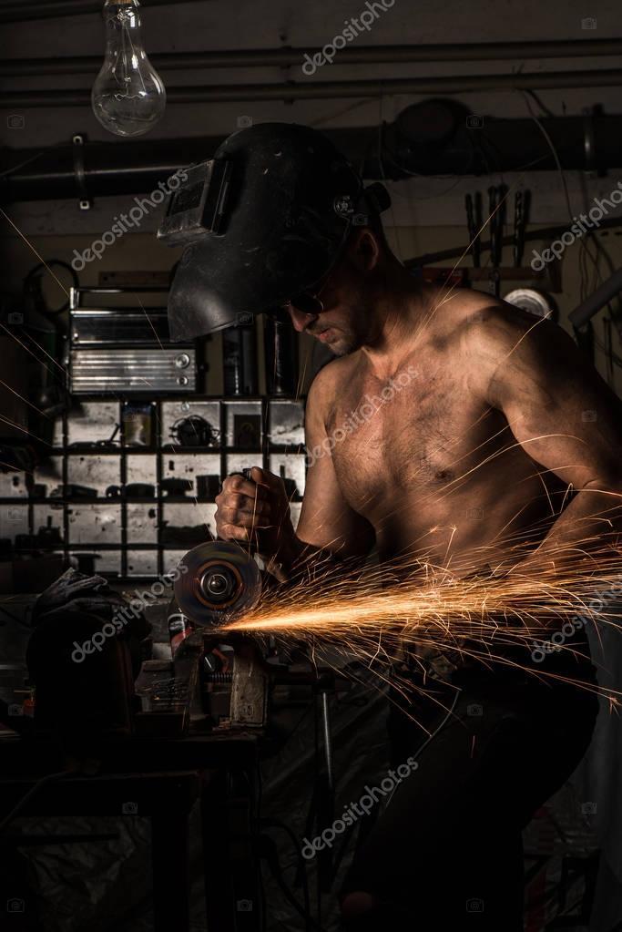 Man working in heavy industry