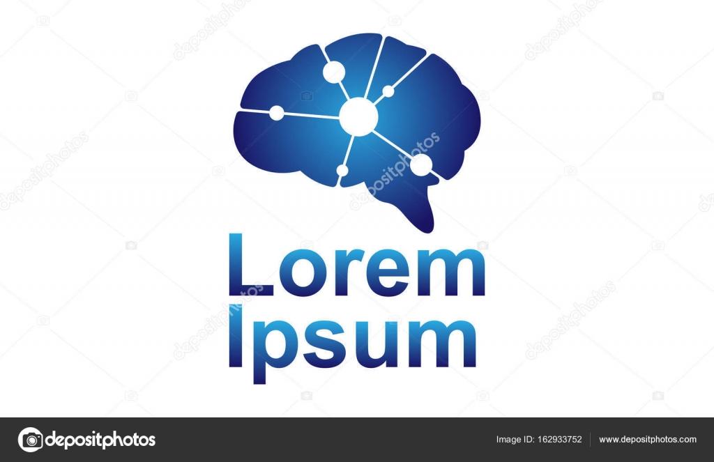 Abstrakten Gehirn Form mit elektrischen Schaltungen — Stockvektor ...