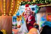 Kinderkarussell auf dem Weihnachtsmarkt