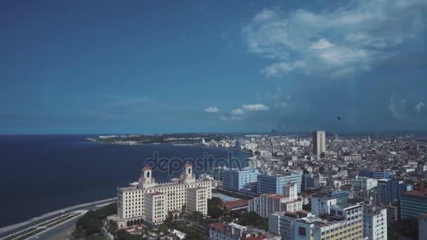 Panoramatický pohled Havana 33 podlahy restaurantthe starých ulic, náměstí, občané
