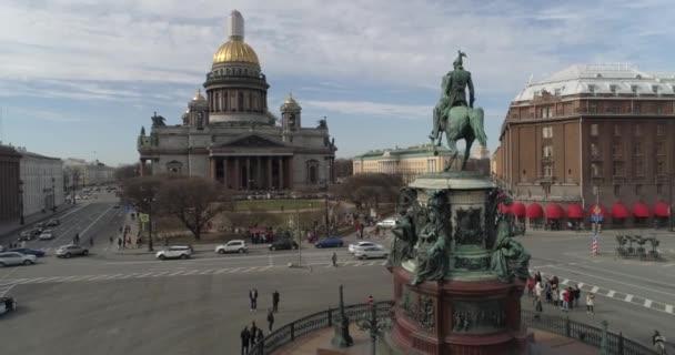 Katedrála svatého Isaacs Petrohradu letecké natáčení