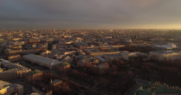 Střechy z Petrohradu letecké hukot řeky Něvy
