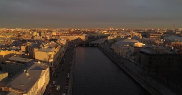 Střechy z Petrohradu letecké DRONY