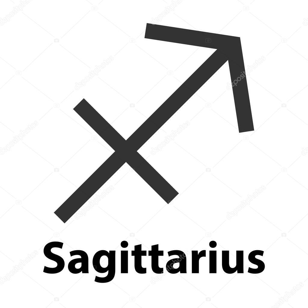 Sternzeichen Schütze Wann schütze, sternzeichen schütze. vektor-illustration, symbol
