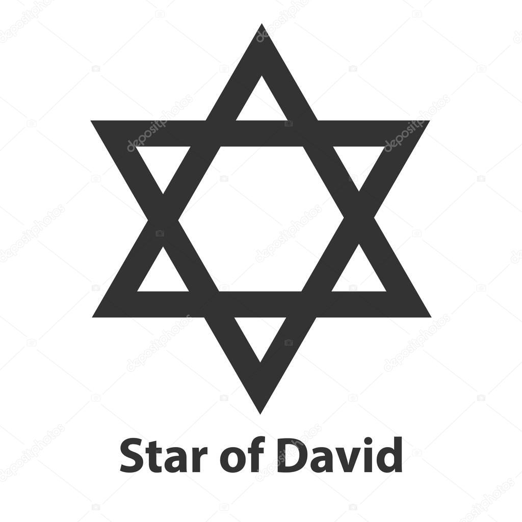 Icon of star of david symbol judaism religion sign stock vector icon of star of david symbol judaism religion sign stock vector buycottarizona