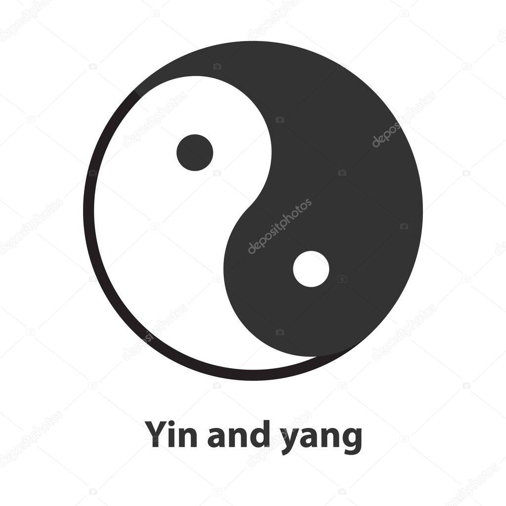 Icon Of Yin Yang Symbol Taoism Buddhism Daoism Religion Sign