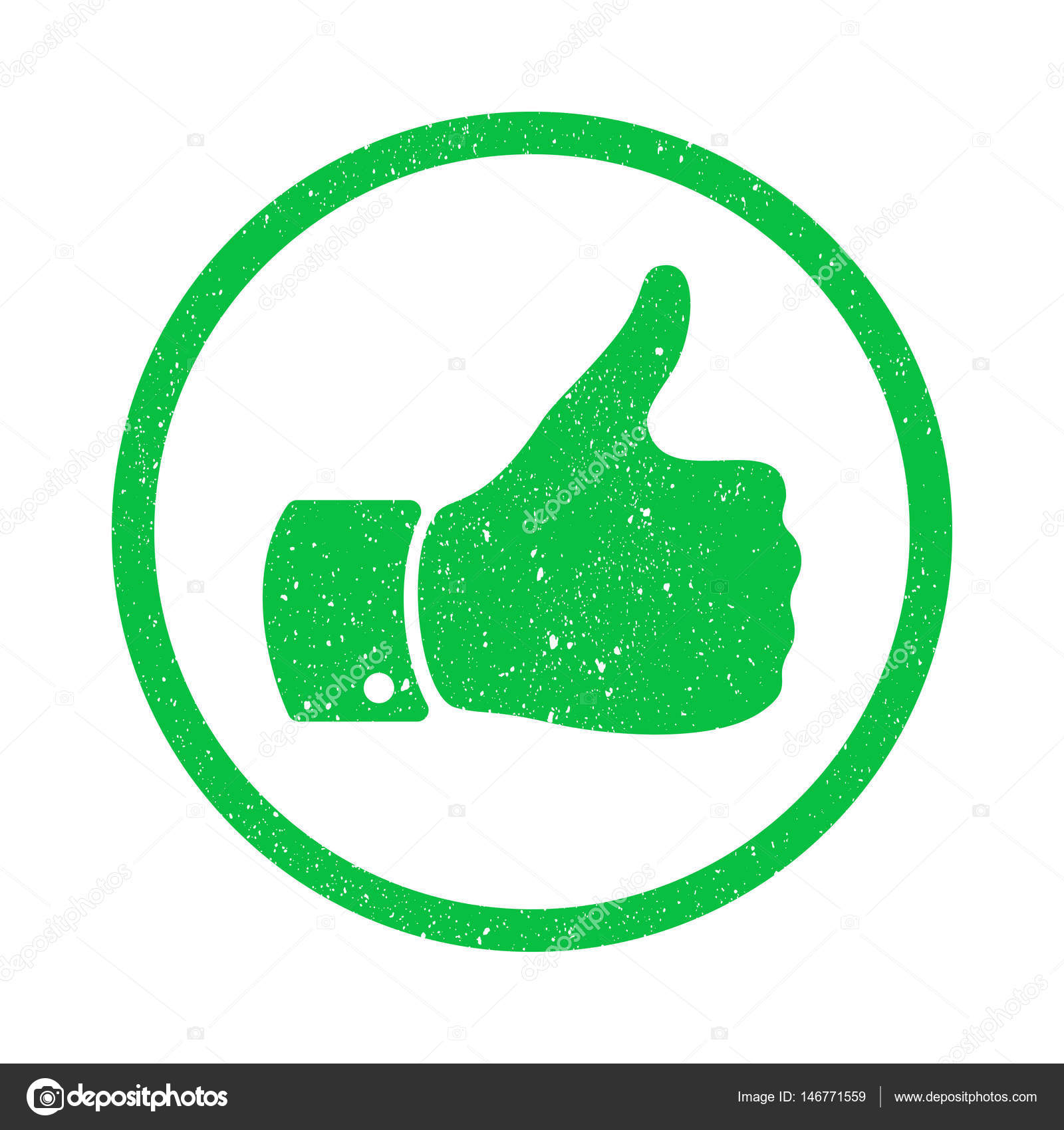 Grunge Thumb Up Symbol Distressed Human Hand Icon Sign Of Like