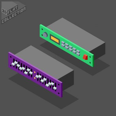 3d isometric flat rack processor and equalizer.
