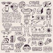Fényképek virtuális valóságon keze felhívni készlet